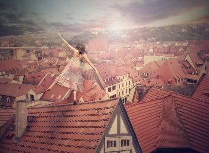 Çatılarda dengede durmak