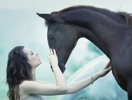 At ile kadın