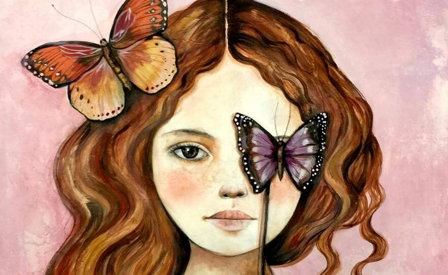 kelebekli kız