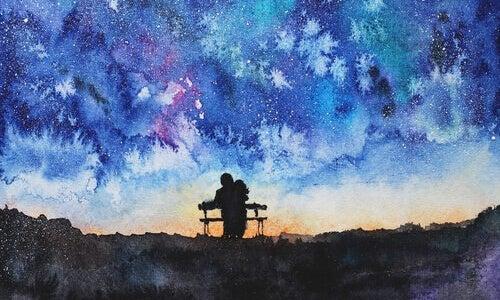 beraber oturup gökyüzünü izlemek