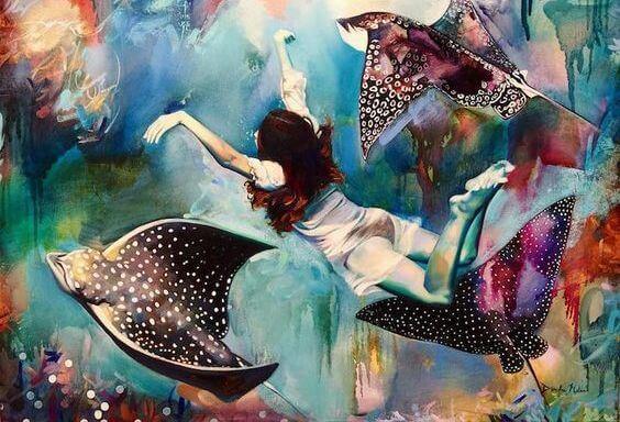 denizde uçan kız