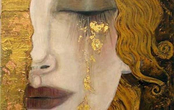 altın gözyaşlarıyla ağlamak