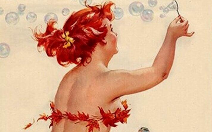 baloncuklar yapan kadın
