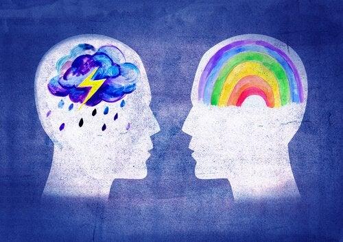 gökkuşağı ve fırtınalı düşünceler