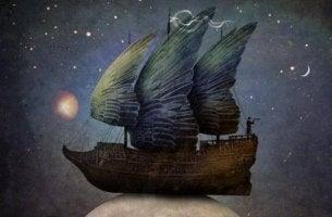 kanatları olan gemi