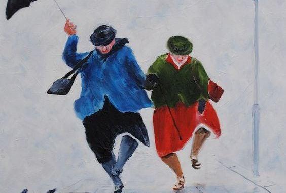 kayak yapan yaşlı kadınlar