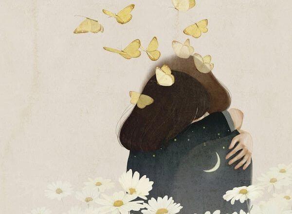 kelebekler ve çiçekler arasında gece gibi sarılmak
