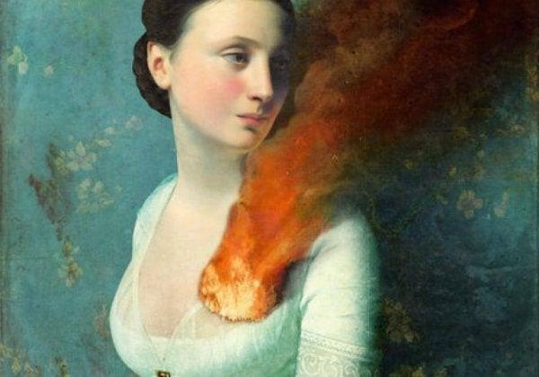 kalbi yanan kadın