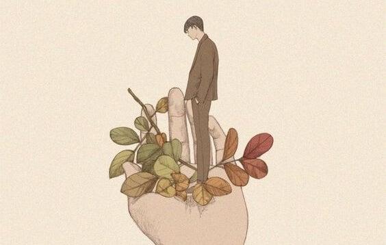 cocuk ve yapraklar