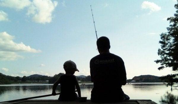 baba çocuk balık