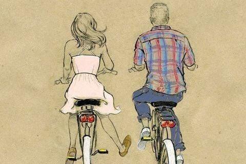 Bisiklete binen cift
