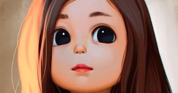 gözleri büyük kız
