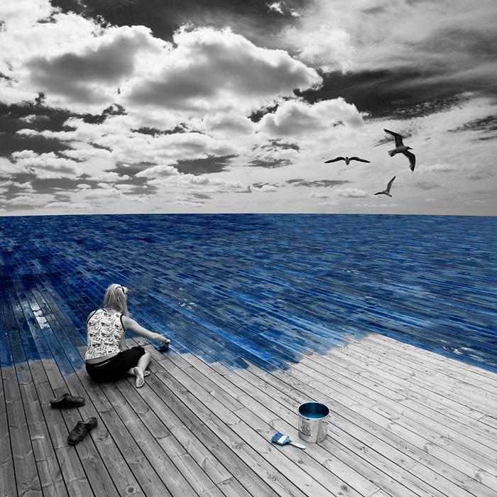 deniz boyamak