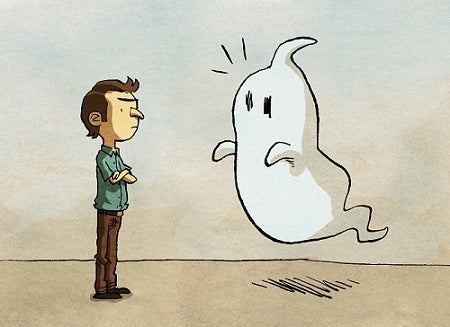 adam ve korkak hayalet