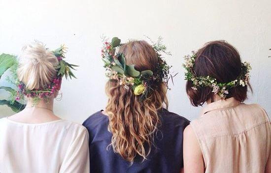 kadınlar çiçekli saçlar