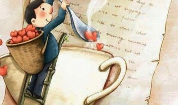 kalp kahve adam