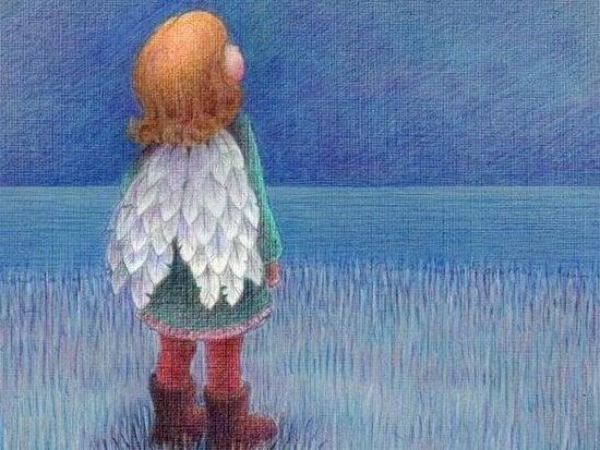 kanatları olan çocuk