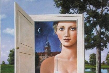 kadın kapı resim