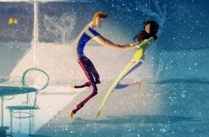 karda dans eden çift