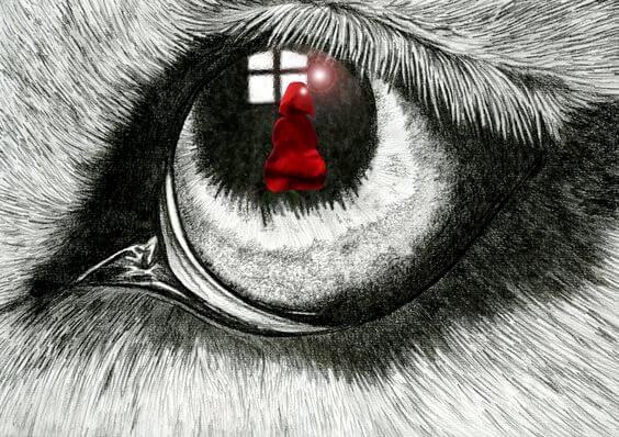 Gözdeki kırmızı başlıklı kız