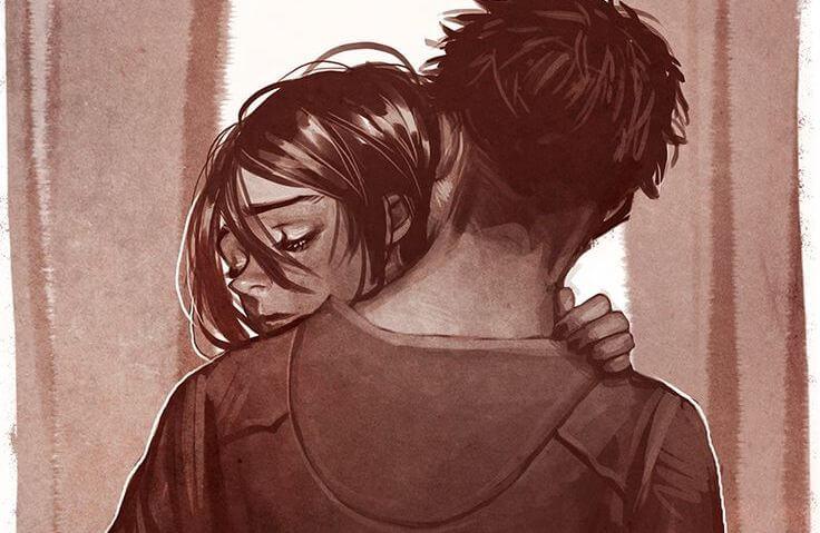 üzgün sarılmalar