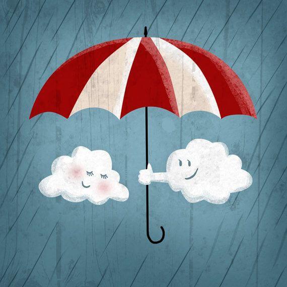şemsiyeli şirin bulutlar