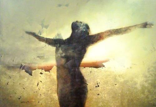 siluet şeklindeki kadın poz veriyor