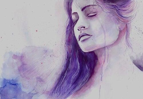 suluboya ağlayan kadın