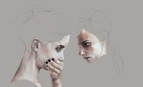 birbirine bakan çizimler