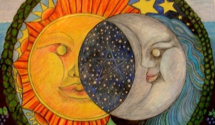 ay güneş yıldızlar iç içe