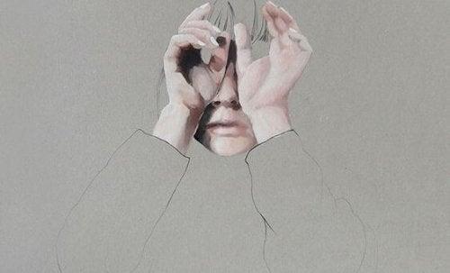 gözleri saklayan çizim