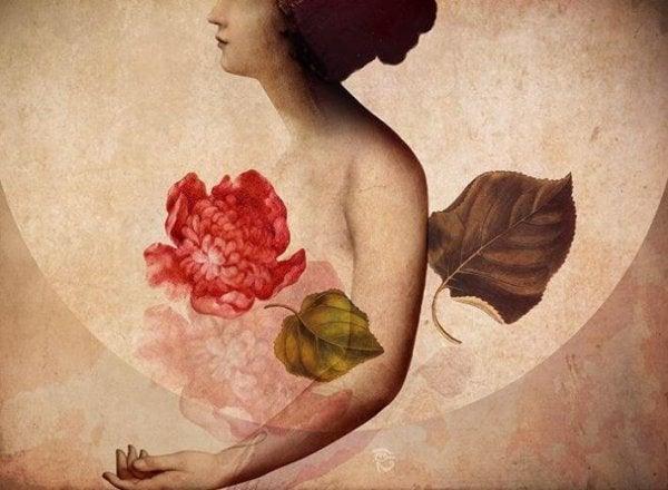çiçek kadın