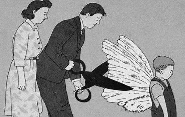 çocuklarının kanatlarını kesen aile