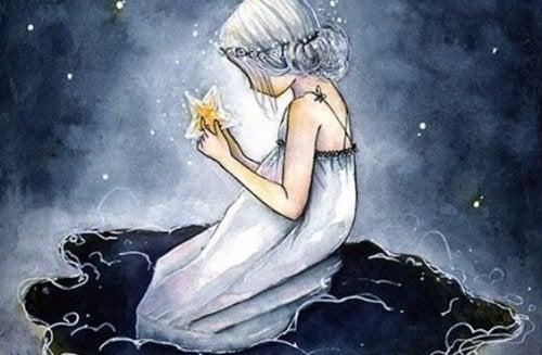 yıldız tutan kız