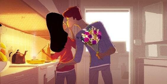 eşinize çiçek getirin