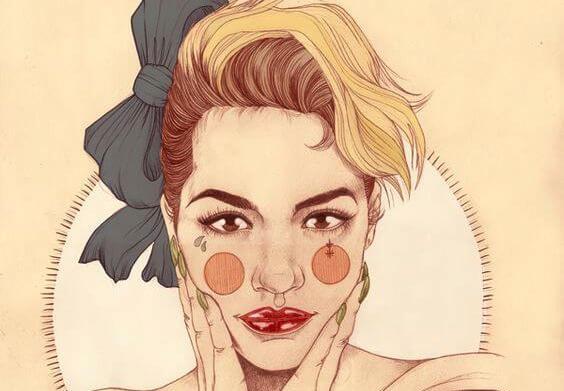 bol makyajlı kadın
