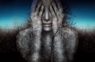 içinden orman çıkan kadın