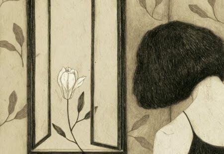 sırtı dönük kadın pencereye bakıyor