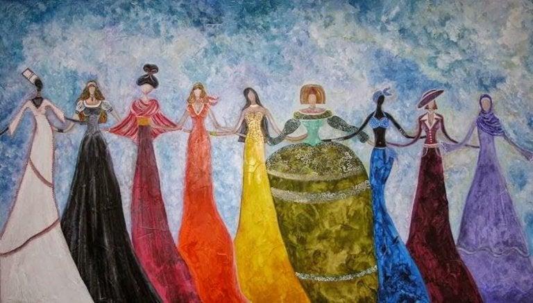 her kültürden kadın el ele