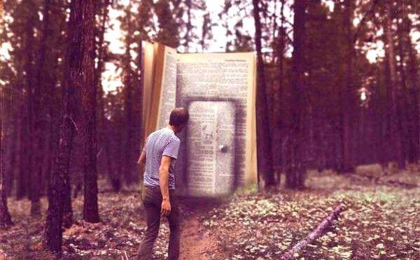 ormanda kitap kapı bulan adam