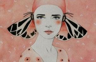 kelebek saçlı kadın