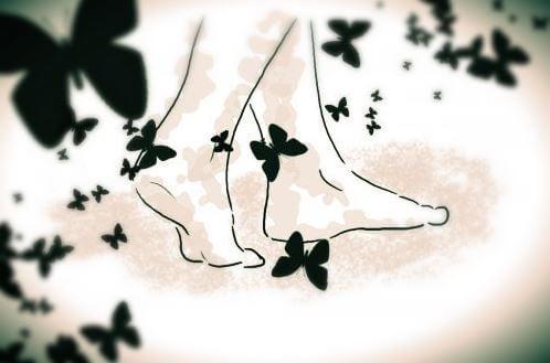 kelebekli ayaklar