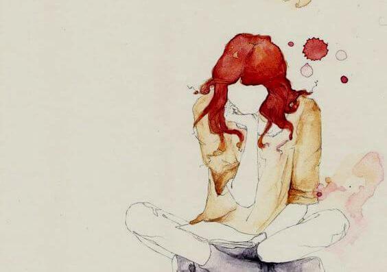 kızıl saçlı çizim