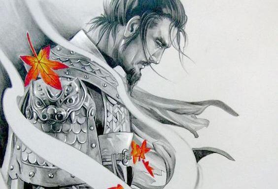 savaşçı ve yapraklar