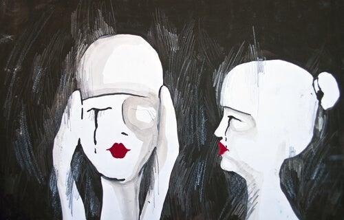 ağlayan beyaz kadınlar