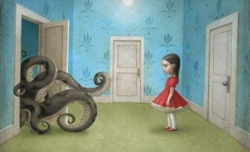 küçük kız ve ahtapot