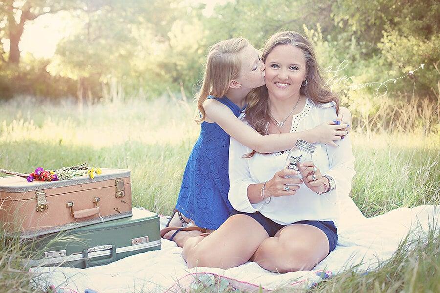 anne kız piknik