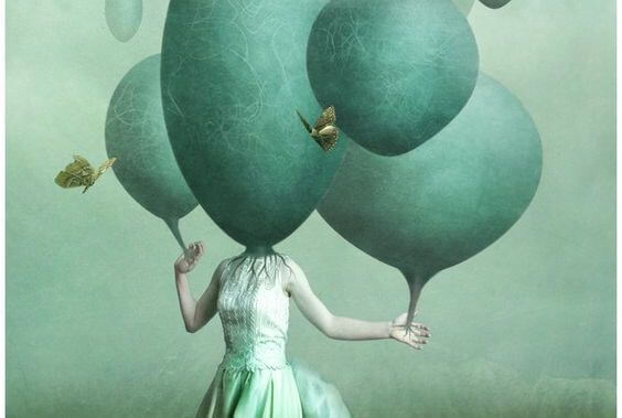 yeşil balon kafalar
