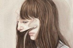 kadının bozulmuş suratı