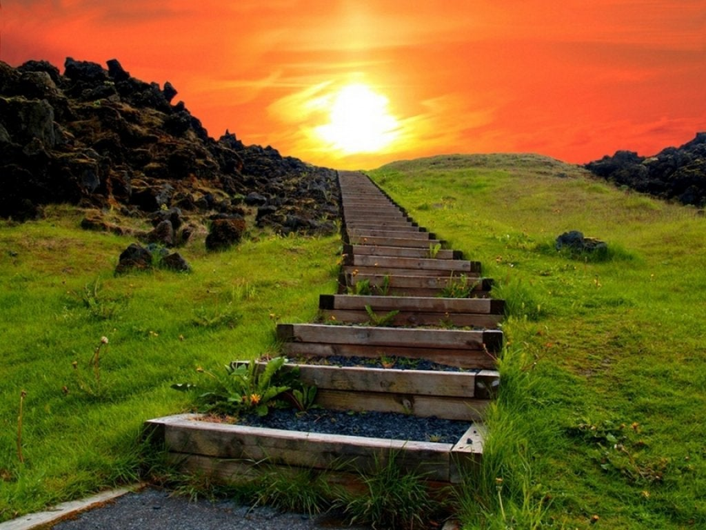 zirveye çıkan merdivenler